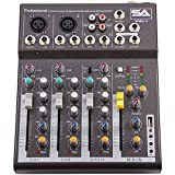 Seismic Audio - Slider4 - 4 Channel Mixer Console with USB Interface