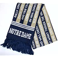 NCAA Notre Dame FIghting Irish FIGHT SONG  Adidas Fringe Scarf