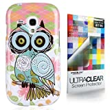 CaseiLike® Art of Owl 3331, Shell Skin Gel Snap-on case back cover for Samsung Galaxy S3 mini i8190 with Screen Protector