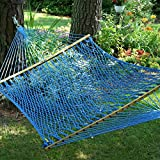Pawleys Island Hammocks Large Original DuraCord Rope Hammock - Coastal Blue