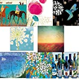 Greeting cards collection. Beautiful 1 - 8 luxury art cards. Premium quality birthday cards.by Squashed Tomato