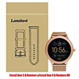 Lamshaw Smartwatch Band Fossil Q Venture/Fossil Gen 4 Q Venture HR, Milanese Metal Stainless Steel Mesh Replacement Strap GEN 3 SMARTWATCH - Q VENTURE (Rose Gold) (Color: Rose Gold)
