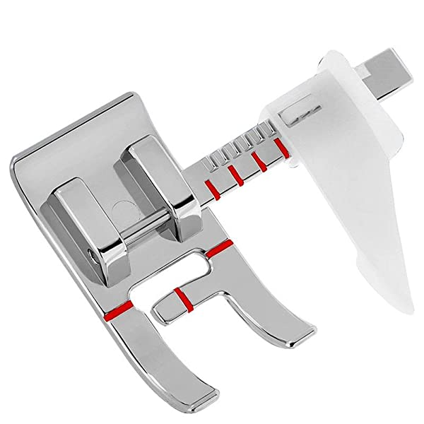 White Juki Kalevel Stitch Guide Foot Sewing Machine Presser Feet with a Ruler Fits All Low Shank Snap-On Singer Simplicity Euro-Pro New Home and More Kenmore Babylock Brother Elna Janome