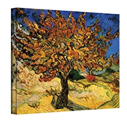 Art Wall Mulberry Tree by Vincent van Gogh Gallery Wrapped Canvas, 24 by 32-Inch