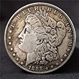 1888 Ancient Antique Us Morgan Silver Dollar Coins in God We Trust Replica Coin Crafts + A Pretty Banknote Gift