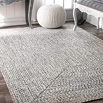 nuLOOM HJFV01C Braided Lefebvre Rug, 10 x 14, Salt and Pepper