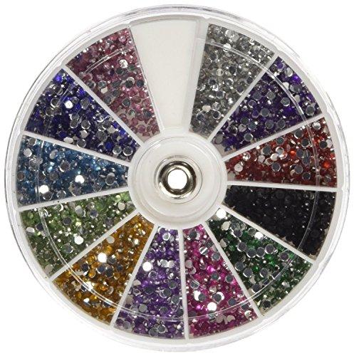 350Buy Rhinestones 2400 Piece 12 Color Nail Art Nailart Manicure Wheels