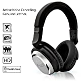 NoiseHush i7 Aviator Active Noise Cancelling Over Ear Headphones Acoustic High Definition Stereo Headset- Retail Packaging - Black