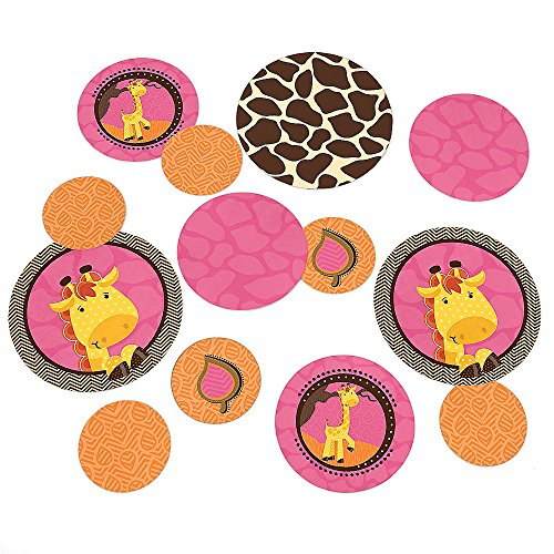 Big Dot Of Happiness - Giraffe Girl - Baby Shower Or Birthday Party Table Confetti - 27 Count front-710792