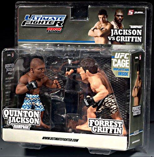 Round 5 UFC Versus Series 1 Action Figure 2Pack Quinton Rampage Jackson Vs. Forrest Griffin TUF 7 - 1