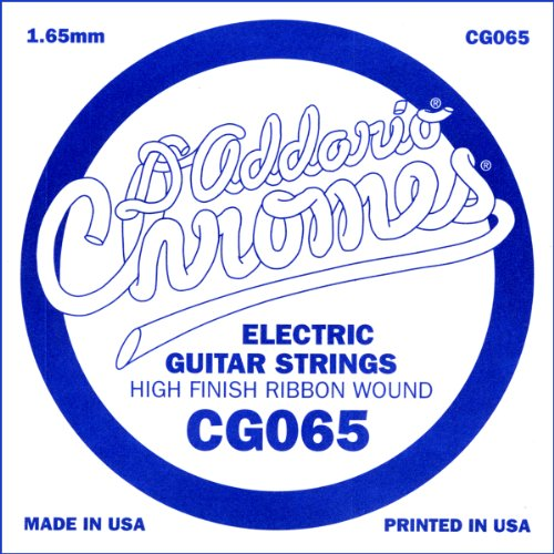 D'Addario Cg065 Flat Wound Electric Guitar Single String, .065