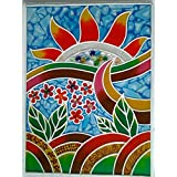 Beautiful 3D Stainwood Uniquely Designed Wall Hanging Mural - Unique Arts