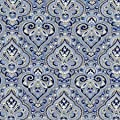 Florene Designer Plaids and Pattern - French Paisley Blue - Tiles