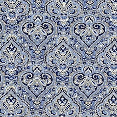 Florene Designer Plaids and Pattern - French Paisley Blue - Tiles