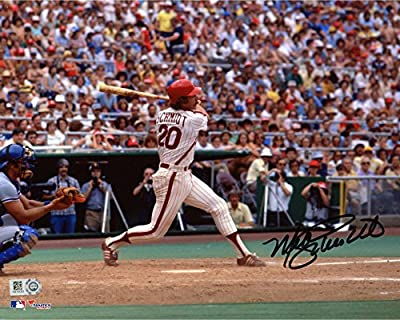 "Mike Schmidt Philadelphia Phillies Autographed 8"" x 10"" Pinstripe Swinging Photograph - Fanatics Authentic Certified"