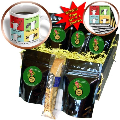 Cgb_2219_1 Londons Times Funny Music Cartoons - Toilet Paper Holders Of The Rich And Famous - Coffee Gift Baskets - Coffee Gift Basket front-288406