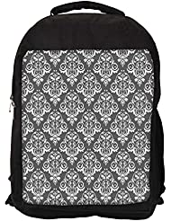 "Snoogg White And Grey Pattern Casual Laptop Backpak Fits All 15 - 15.6"" Inch Laptops"