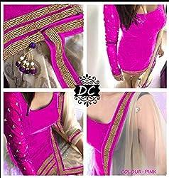 pink Velvet Dress materials (H105-03_pink_Free size)