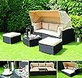 Siena Garden 254931 Marino Lounge Set, 6-teilig, Kissen beige, maron / alu von Siena Garden auf Gartenmöbel von Du und Dein Garten