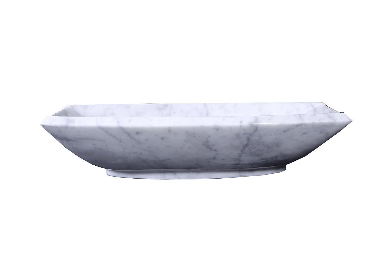 Virtu USA VST-99IT-BAS Kirke Vessel Sink with Bianco Carrara Marble le piccole virtu