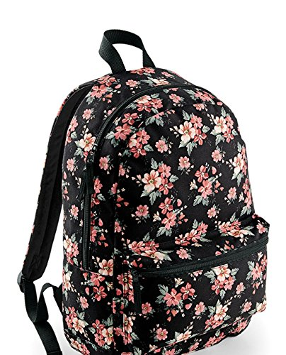 damen frauen rucksack blumen flower bagbase schule uni ranzen tasche. Black Bedroom Furniture Sets. Home Design Ideas