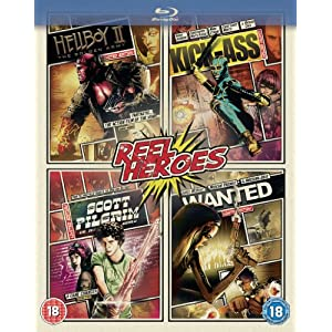 Reel Heroes-Hellboy 2/Wanted/Scott Pilgrim/Kick [Blu-ray] [Import anglais]