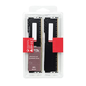 HyperX Fury 64GB 2400MHz DDR4 Ram CL15 DIMM (Kit of 2) Black Desktop Memory with Low-Profile Heat Spreader (Tamaño: 64GB kit (2 x 32GB))