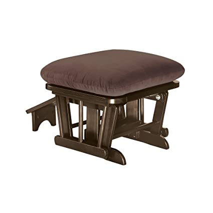 Shermag Home Indoor Wooden Furniture Ottoman With Nursing Foot Rest Mocha