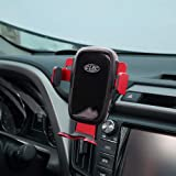 Wireless Charging Phone Holder,Electric Automatic Retractable Air Vent Holds Mount fit for Toyota RAV4 2018 2017,Car Phone Mount fit for iPhone 8, X, XS fit for Samsung S9,S10 Smartphone (Color: Toyota-R4-04)