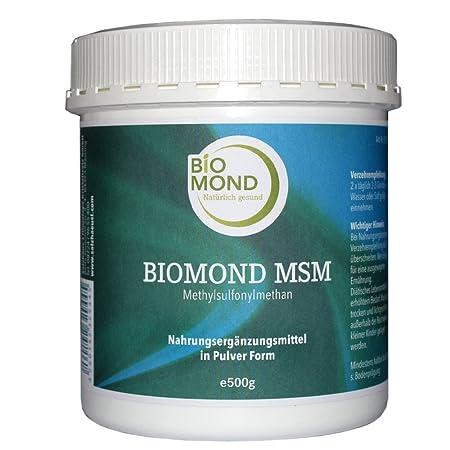 BIOMOND reines MSM grobes Granulat, 500 g, beste Qualität fur Muskeln, Sehnen und Gelenke