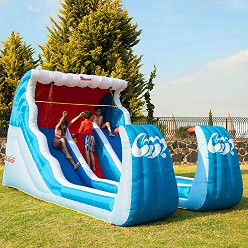 Double Slide N Shoot Basketball Sports Water Slide Climbing Wall by Liquid Motion by Sportspower