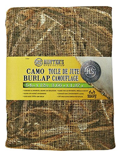 New Hunter's Specialties Burlap, Realtree Advantage Max-5 Camo