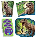 Jurassic World Birthday Party Supplies Set Plates Napkins Cups Kit for 16 Plus Stickers