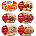 Hormel Compleats Meals - VARIETY FLAVORS (6 - 10 Ounce Microwavable Bowls) - Beef Stew, Meatloaf, Roast Beef, Spaghetti, Chicken Alfredo, Turkey & Dressing