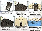 Getwow(TM) IPX8 Universal 4 in 1 Waterproof Swimming Case Bag Pouch with an Waterproof Earphone + an Armband + a Neck Strap --- Fits for Apple iPhone 5s 5c 5 4s 4g 4 3gs; Apple iPod Touch 5th 4th; Samsung Galaxy S5 S5 mini S4 S4 mini S3 S3 mini; Motorola Moto G X; and More Smartphones smaller than the above --- IPX8 Certified to 100 Feet; Retail Packaging; 18-months Warranty (Black)