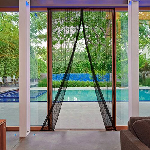 AGC Mart Magnetic Screen Door, Heavy Duty Full Frame Velcro Mesh. Seals Top-To-Bottom Like Magic! Keep Bugs, Insects, Mosquitos Out. Best Net Curtain for Patio, Garage Use. For Doors Up to 35