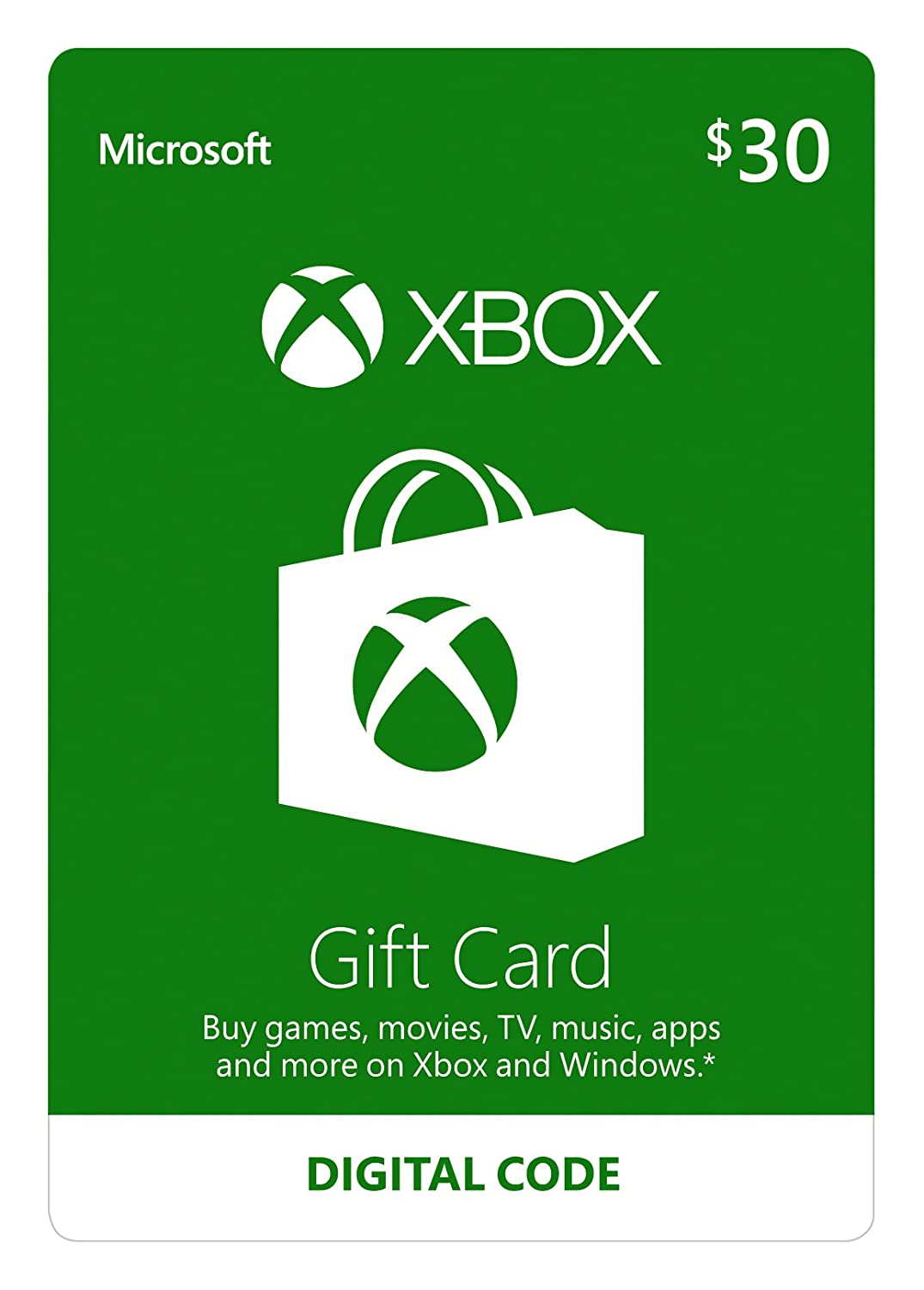 Xbox Live $30 Gift Card - Digital Code