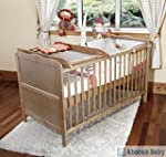 Cot Bed - Sprung Mattress w/ Cot Top...