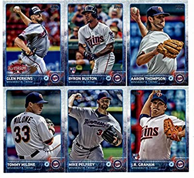 2015 Topps Update Series Minnesota Twins Baseball Cards Team Set of 11 Cards: Aaron Thompson, Byron Buxton, Brian Dozier, Byron Buxton, Glen Perkins, J.R. Graham, Mike Pelfrey, Tommy Milone, Kevin Jepsen, Eddie Rosario, Blaine Boyer in Protective Snap Cas