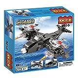 #1: Babytintin™ COGO Block Brick Toys Skybolt Air and Sea 3 in 1 Fighter Bombers Jet boat Triad deformation Building Blocks
