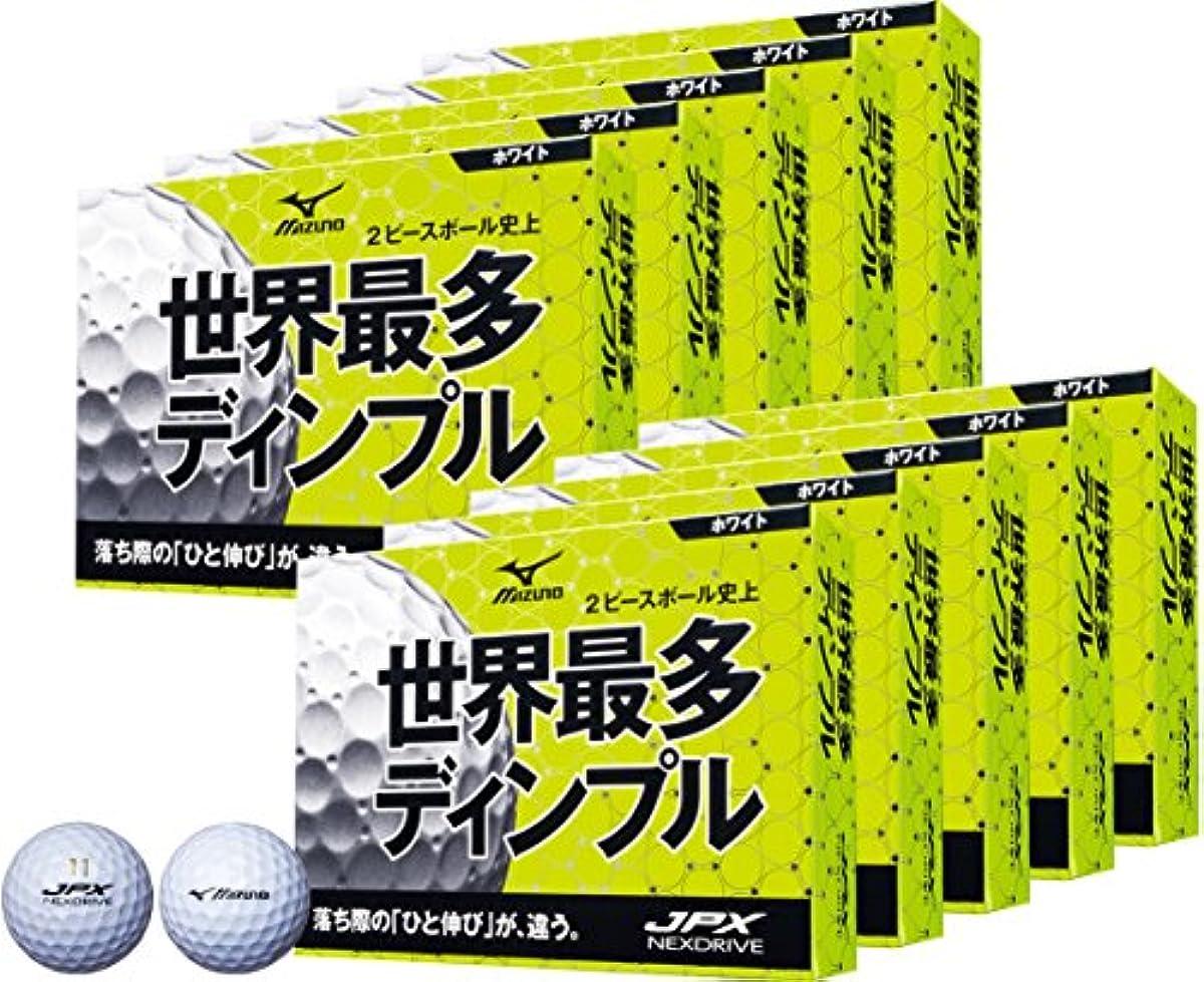 [해외] MIZUNO(미즈노) 골프 볼 JPX 네구스도라이부 10다스(120개 들이) 유니섹스 5NJBH7251012P 화이트