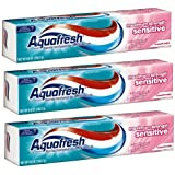 Aquafresh Sensitive Toothpaste Smooth Mint, 5.6-Ounce (Pack of 3)