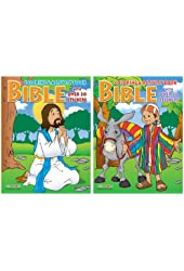 Bible Coloring and Activity Book with Stickers Party Accessory