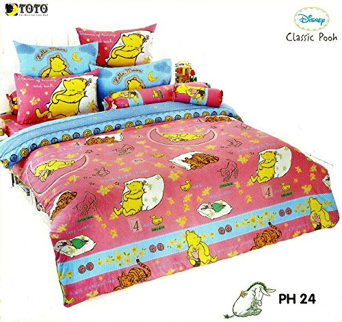 Disney Classic Pooh Bed Fitted Sheet Set : King & Queen Size ; 4 Pieces (1 Bed Fitted Sheet, 2 Standard Pillow Case And 1 Standard Bolster Case) (Queen, Ph24) front-290060