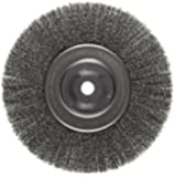 Weiler Trulock Narrow Face Wire Wheel Brush, Round Hole, Steel, Crimped Wire