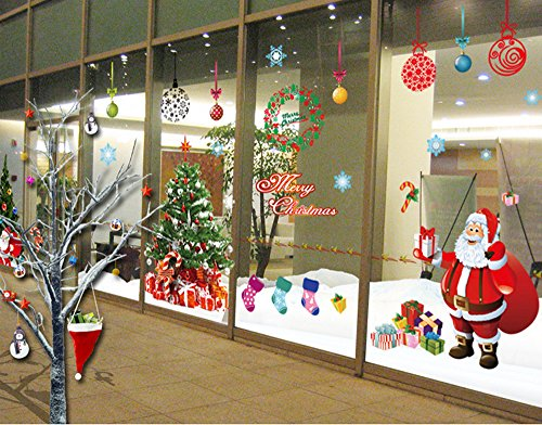 Christmas window clings spice up your home it 39 s for Christmas window mural
