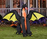 Halloween Animated Inflatable 7' Fire Breathing Dragon