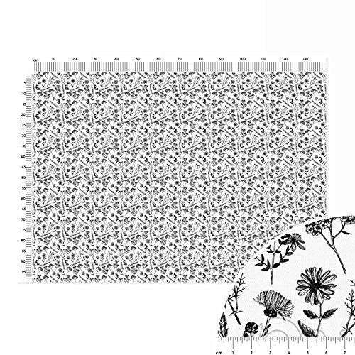 healing-flowers-nostalgia-cotton-twill-fabric-linear-metre-140x100cm-brown-white-black