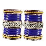vidhya kangan antiqe bangles Color Blue Size-2.8