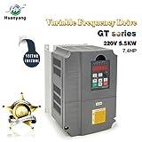 Vector Control CNC VFD Variable Frequency Drive Controller Inverter Converter 220V 5.5KW 7.5HP for Motor Speed Control HUANYANG GT-Series (220V, 5.5KW) (Color: 5.5kw, Tamaño: 220V)